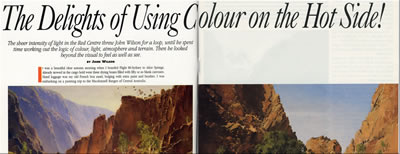 Article by John Wilson - The Delights of Using Colour on the Hot Side!