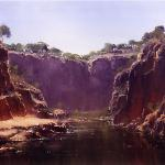 Water Hole - Chewing's Ranges NT  -  60 x 45  © Copyright John Wilson