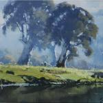 Study for Gums and Tumut River  -  30 x 22  © Copyright John Wilson