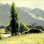 Afternoon Glow, Gilmore Valley, Tumut  -  45 x 30 - Copyright John Wilson